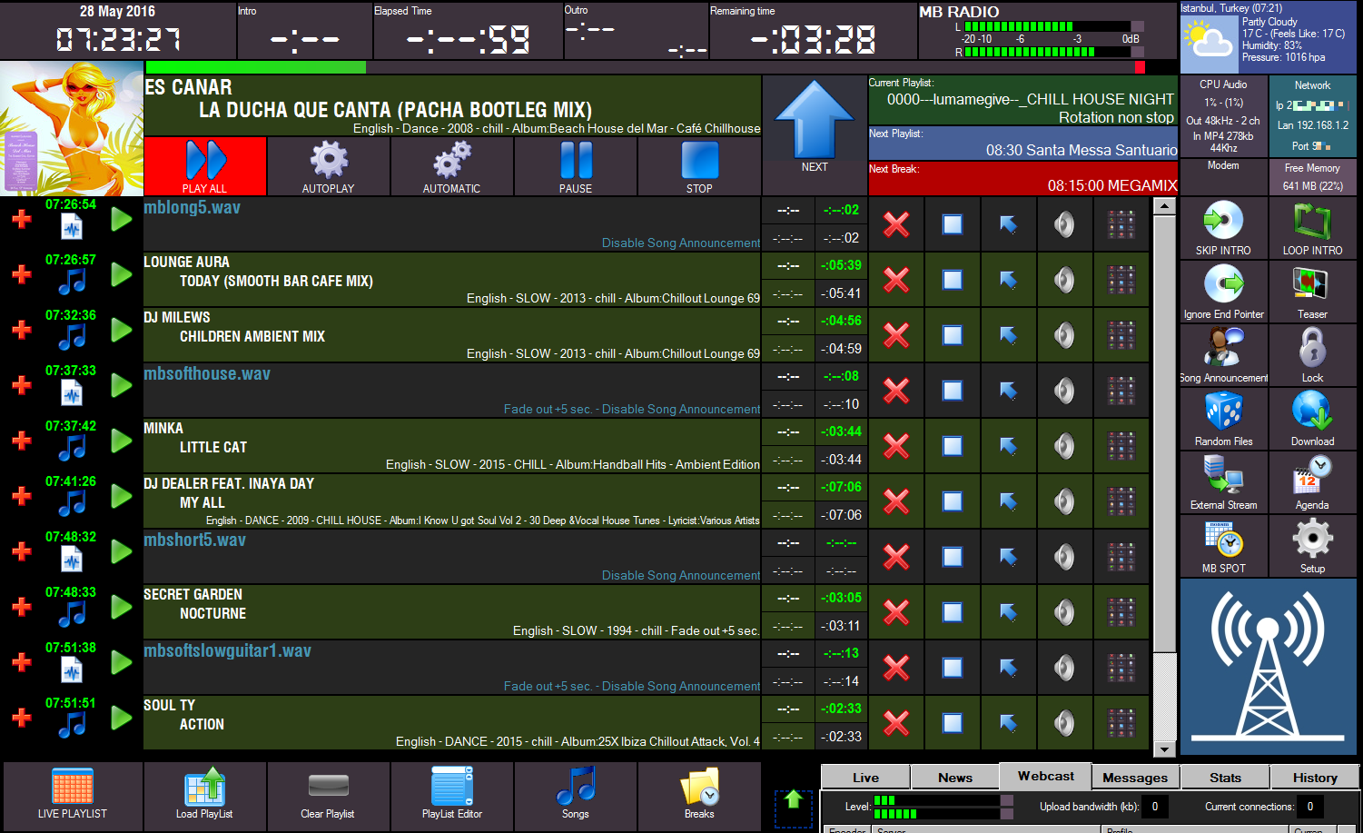 MB STUDIO RADIO AUTOMATION SOFTWARE 8.56